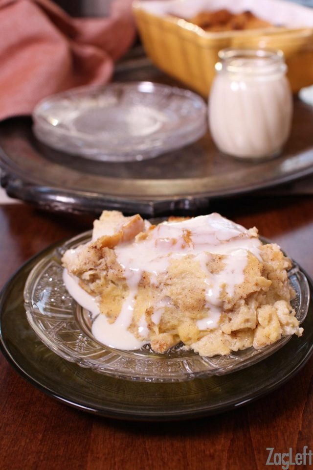 New Orleans Style Bread Pudding With Whiskey Sauce For Two